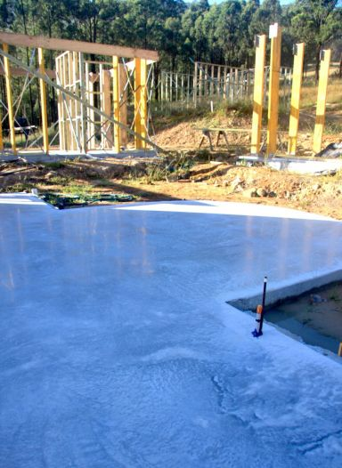 House foundation after concrete polishing services in Newcastle